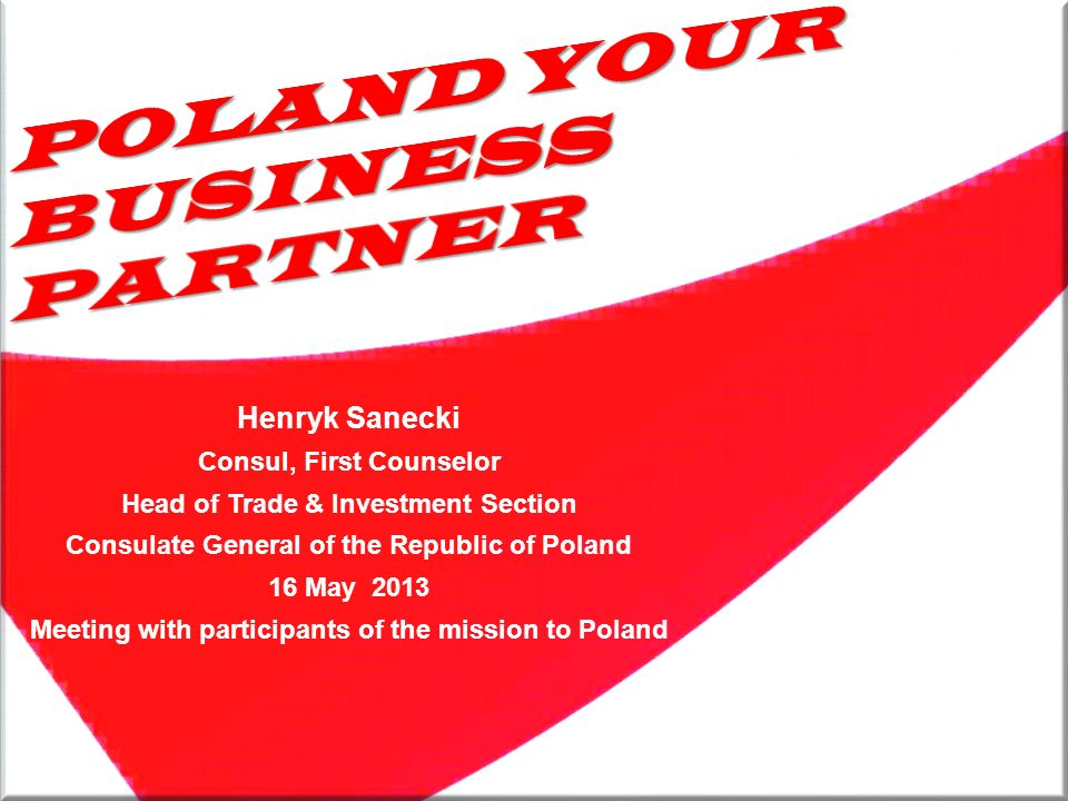 POLAND YOUR BUSINESS PARTNER