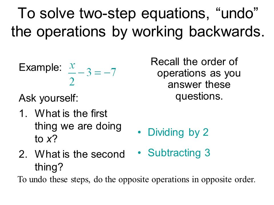 Recall the order of operations as you answer these questions.