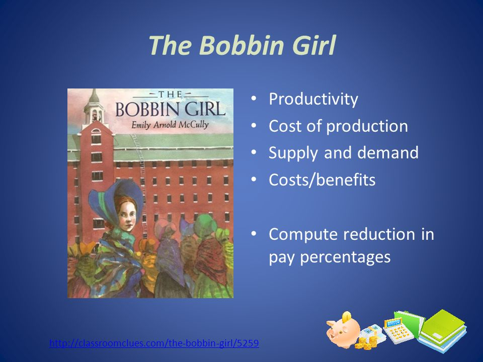 The Bobbin Girl Productivity Cost of production Supply and demand