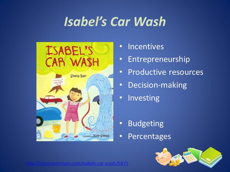 Isabel's Car Wash Incentives Entrepreneurship Productive resources