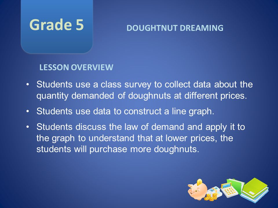 Grade 5 DOUGHTNUT DREAMING LESSON OVERVIEW