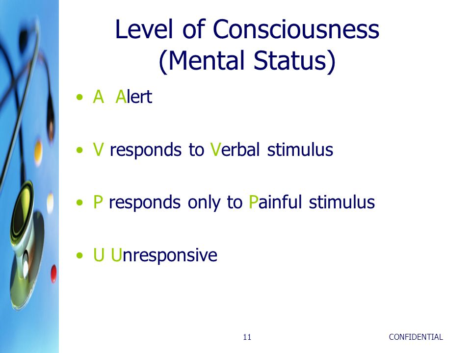 Level of Consciousness (Mental Status)