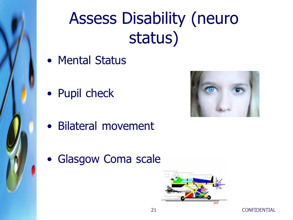 Assess Disability (neuro status)