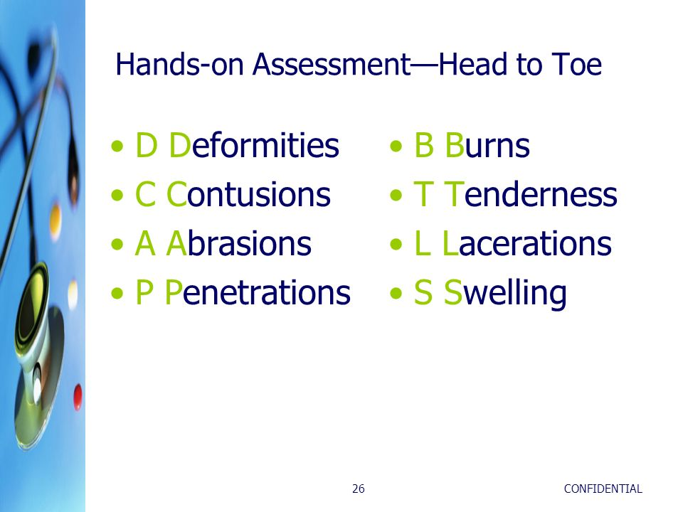 Hands-on Assessment—Head to Toe