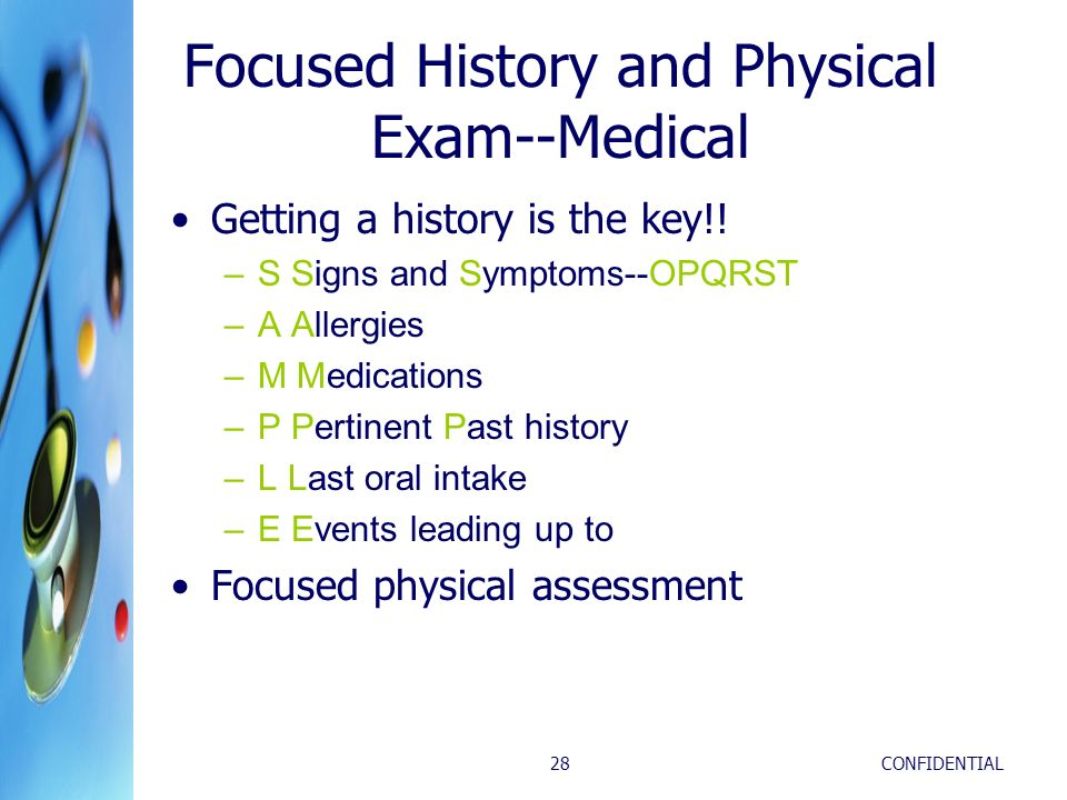 Focused History and Physical Exam--Medical