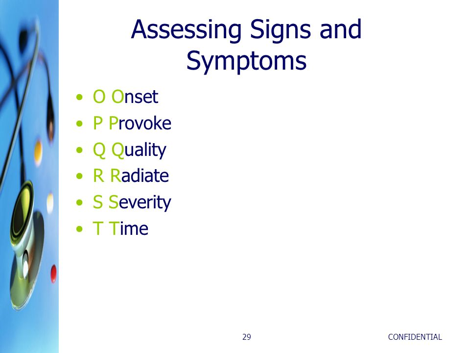 Assessing Signs and Symptoms