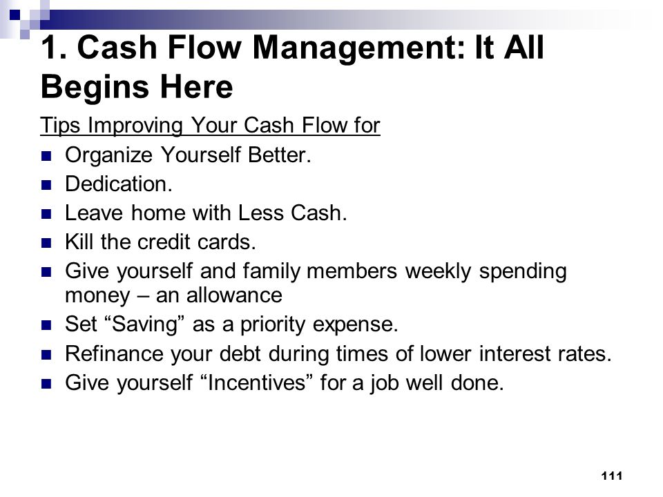 1. Cash Flow Management: It All Begins Here