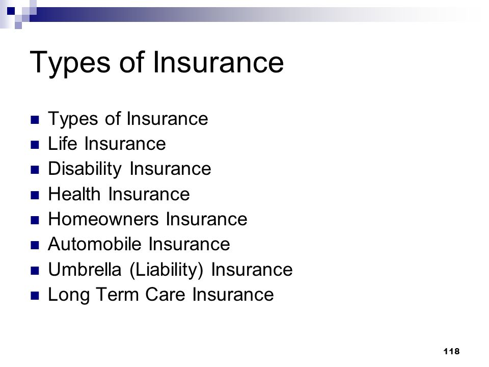 Types of Insurance Types of Insurance Life Insurance