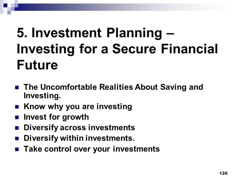5. Investment Planning – Investing for a Secure Financial Future