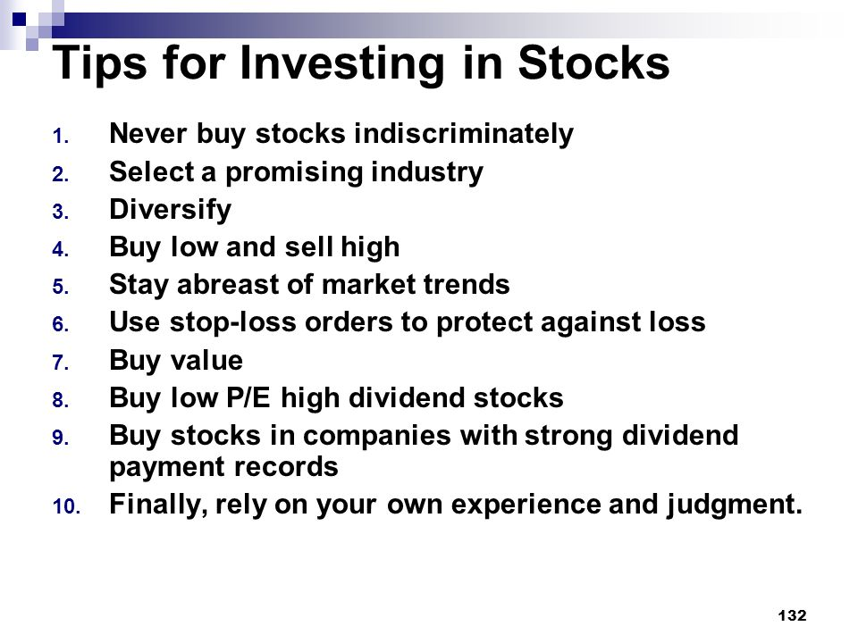 Tips for Investing in Stocks