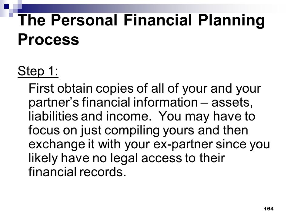 The Personal Financial Planning Process