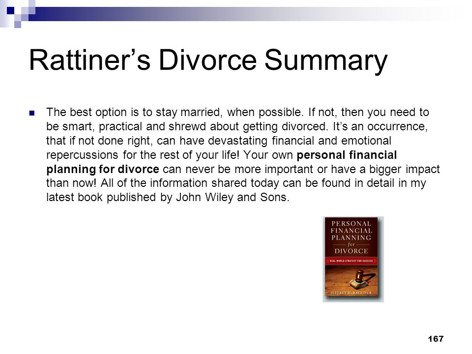 Rattiner's Divorce Summary