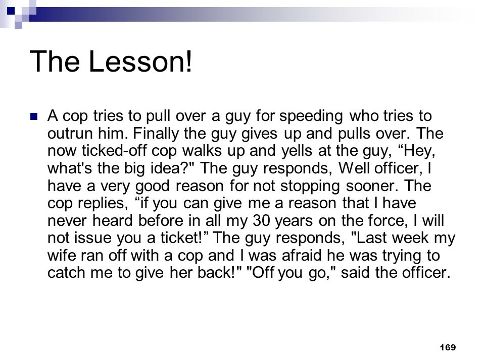 The Lesson!