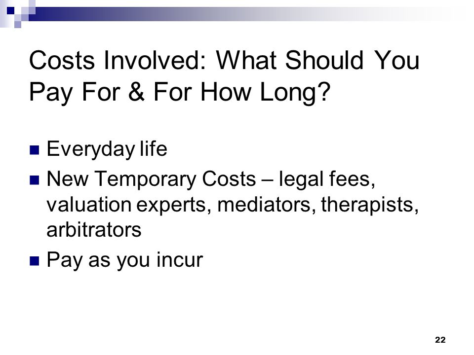 Costs Involved: What Should You Pay For & For How Long