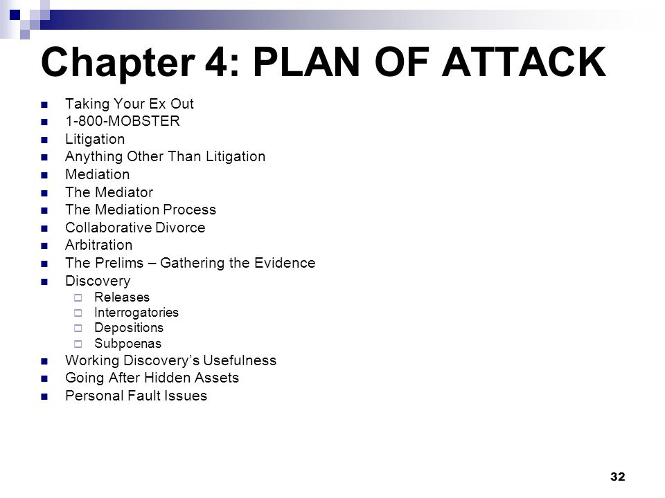 Chapter 4: PLAN OF ATTACK