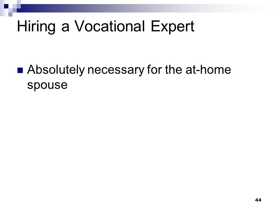 Hiring a Vocational Expert