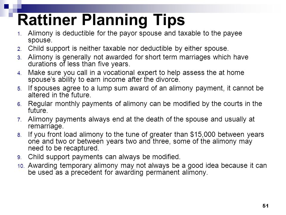 Rattiner Planning Tips