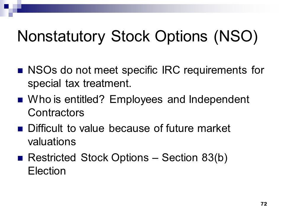 Nonstatutory Stock Options (NSO)