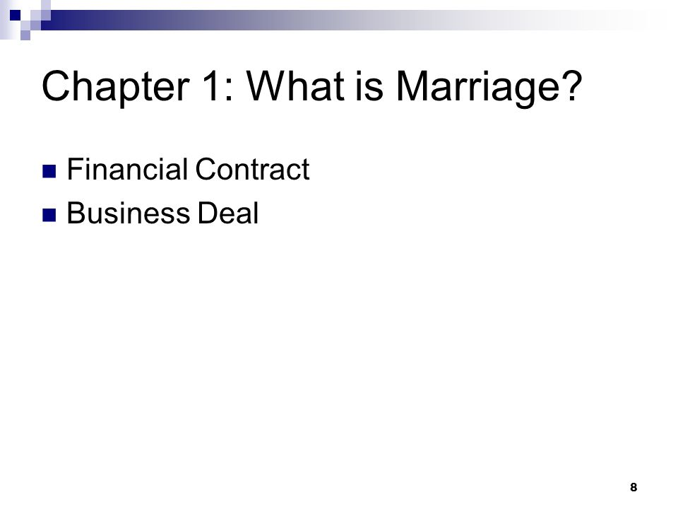 Chapter 1: What is Marriage