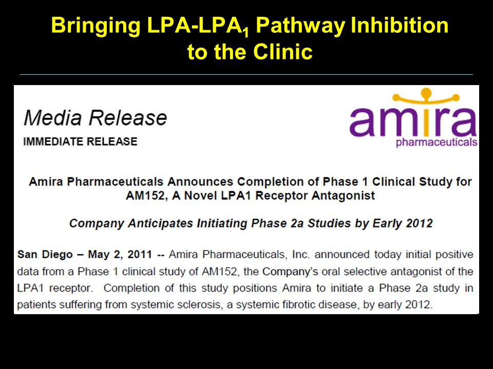 Bringing LPA-LPA1 Pathway Inhibition to the Clinic