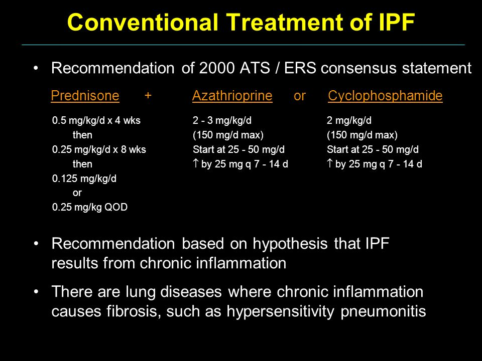 Conventional Treatment of IPF