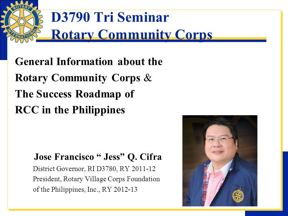 D3790 Tri Seminar Rotary Community Corps