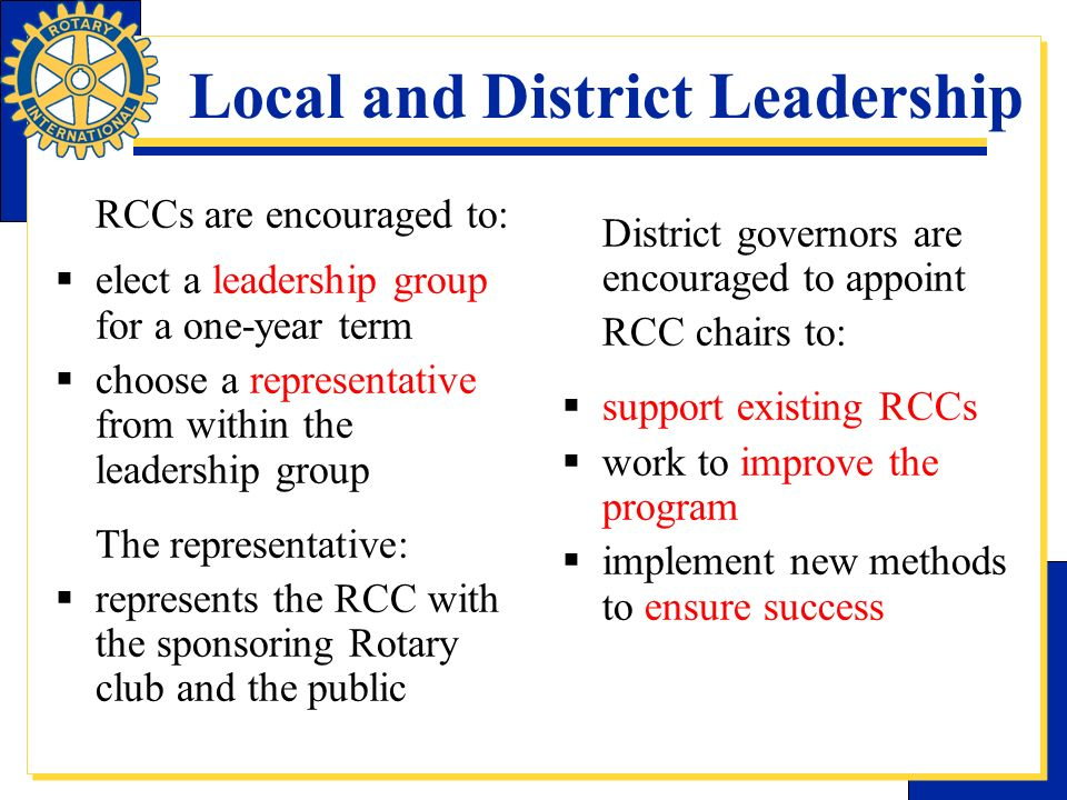 Local and District Leadership