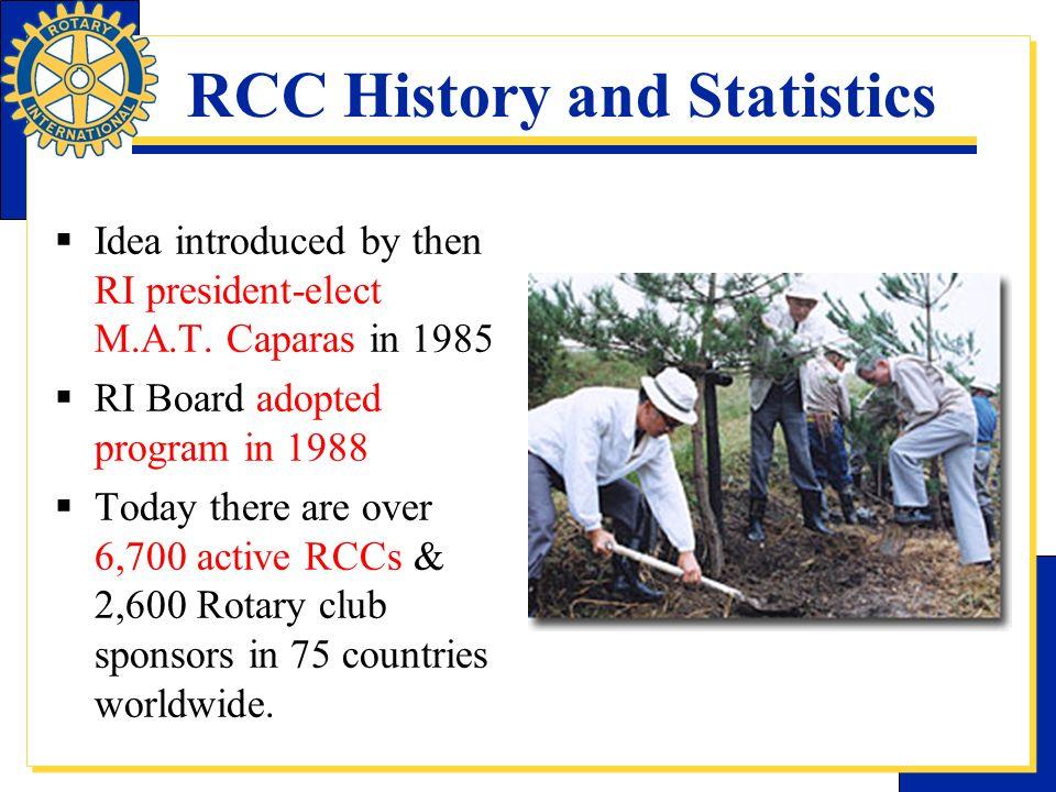RCC History and Statistics