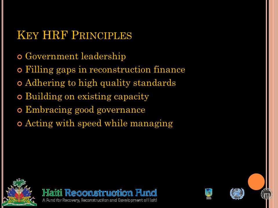 Key HRF Principles Government leadership