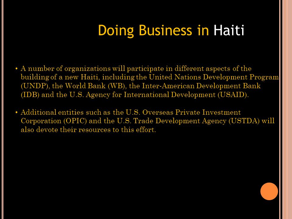 Doing Business in Haiti