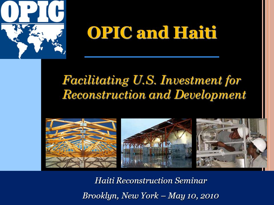 Haiti Reconstruction Seminar