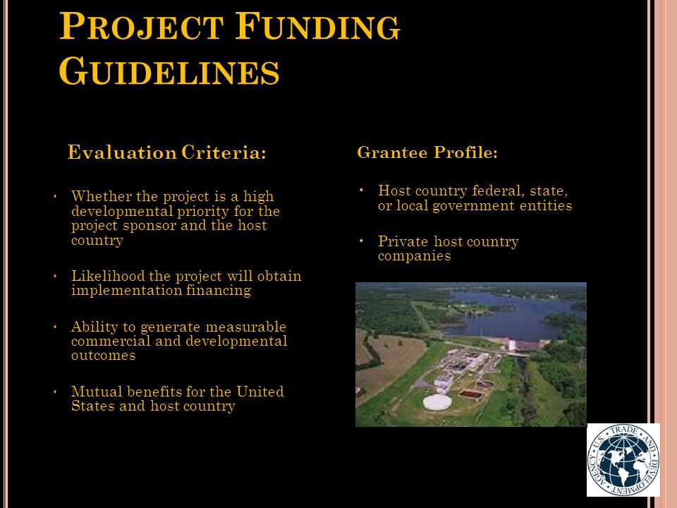 Project Funding Guidelines