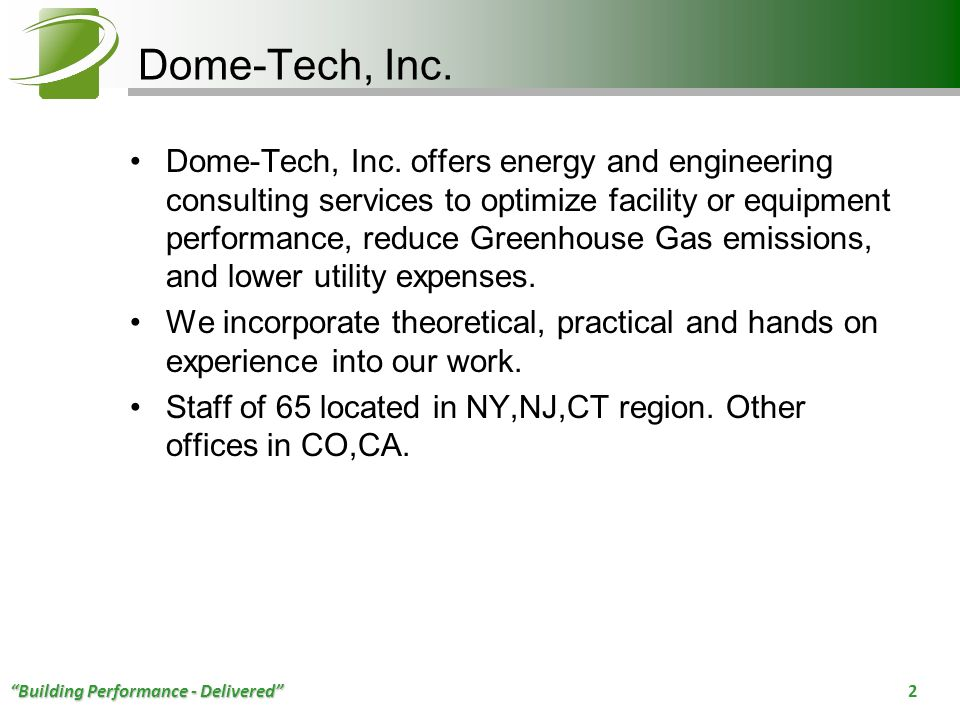 Dome-Tech, Inc.