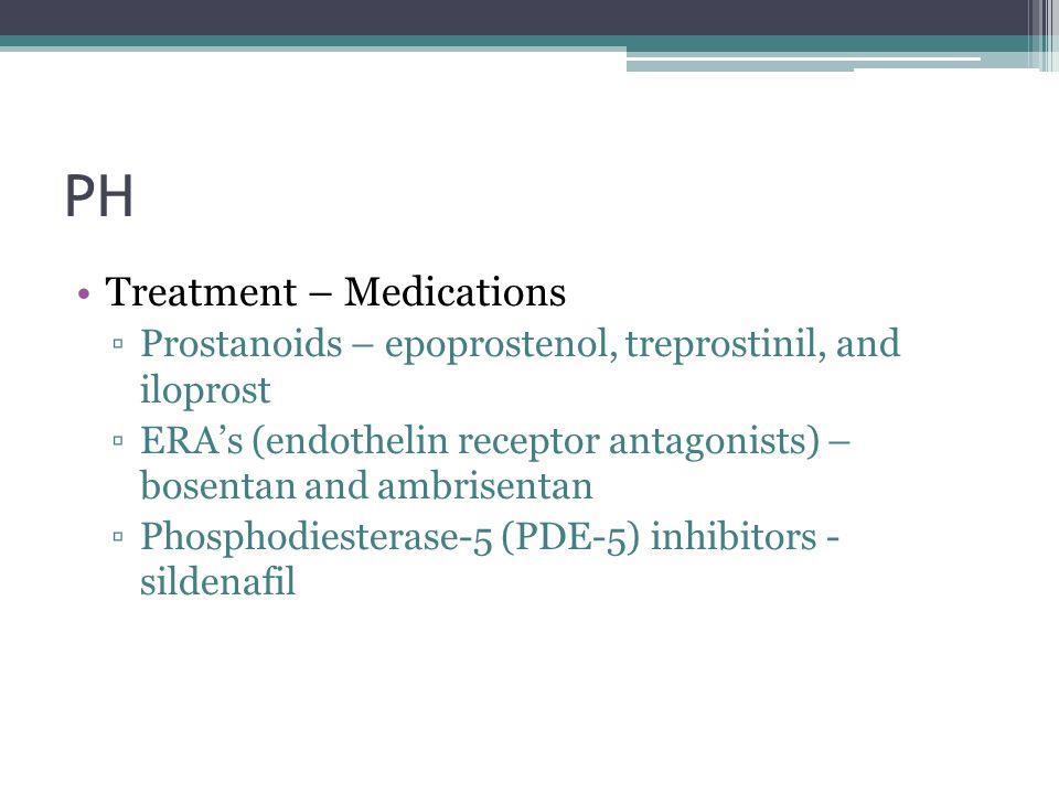 PH Treatment – Medications