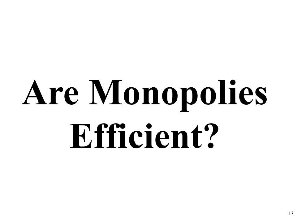 Are Monopolies Efficient