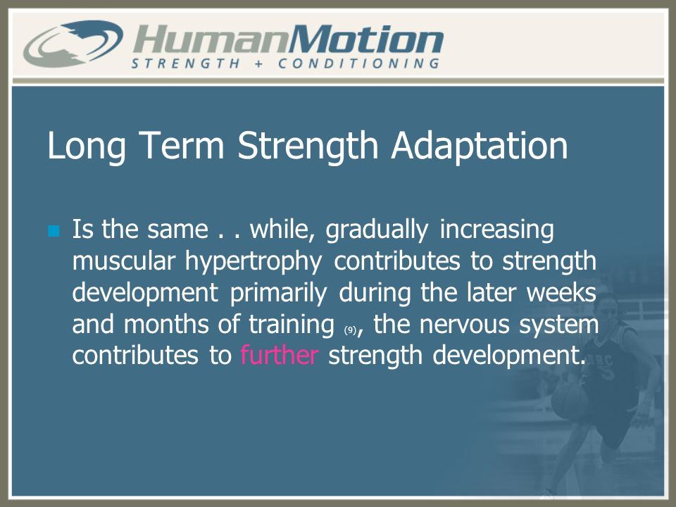 Long Term Strength Adaptation