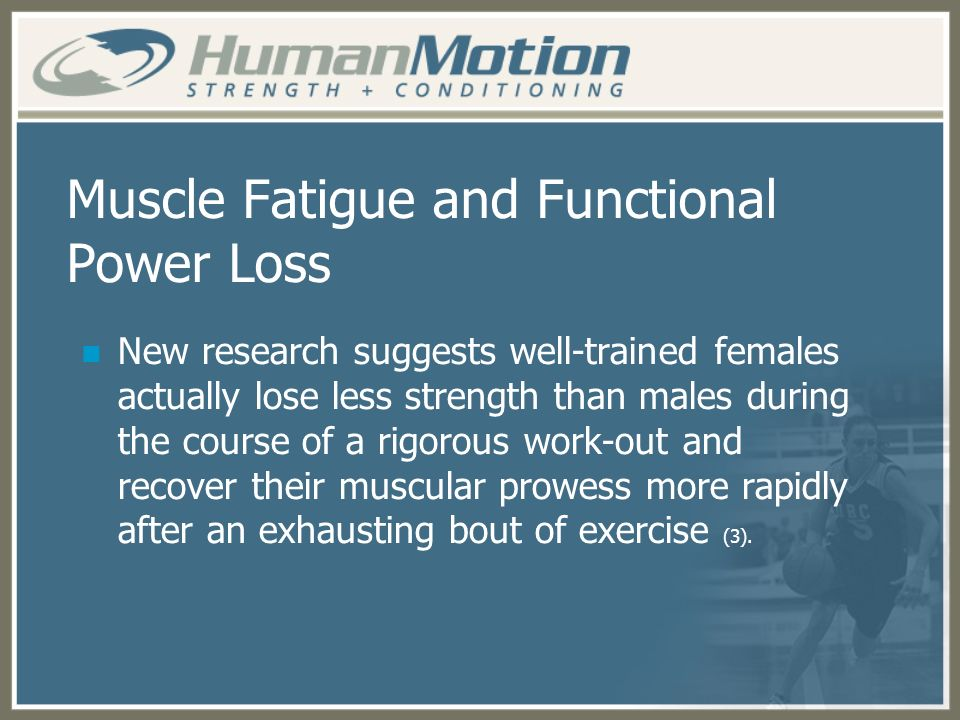 Muscle Fatigue and Functional Power Loss