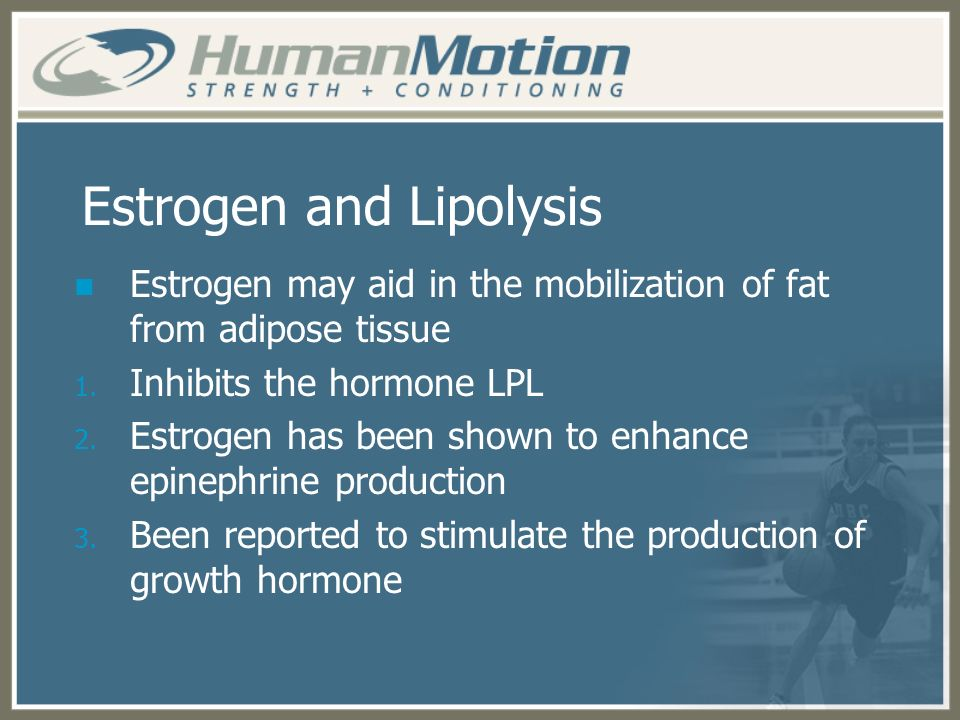 Estrogen and Lipolysis