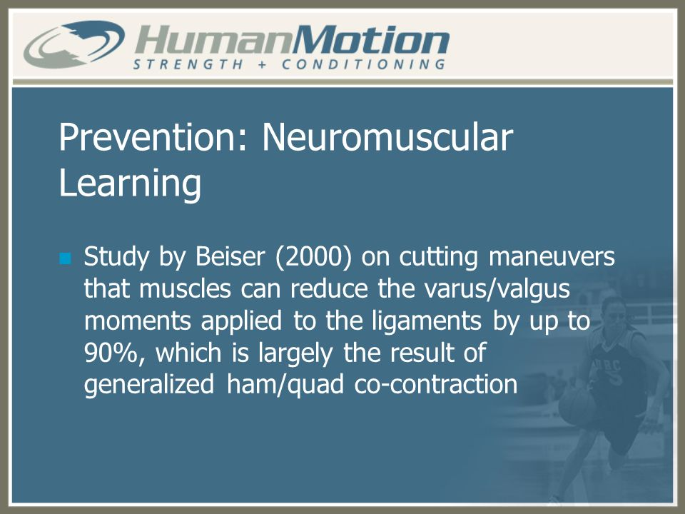 Prevention: Neuromuscular Learning
