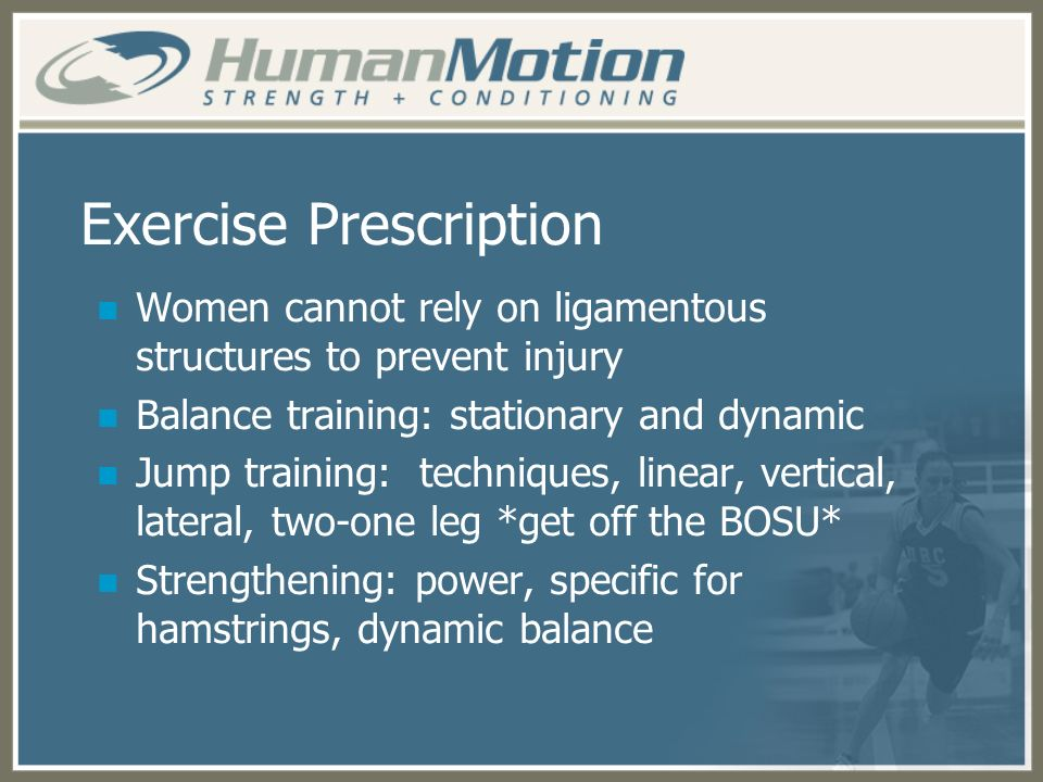 Exercise Prescription