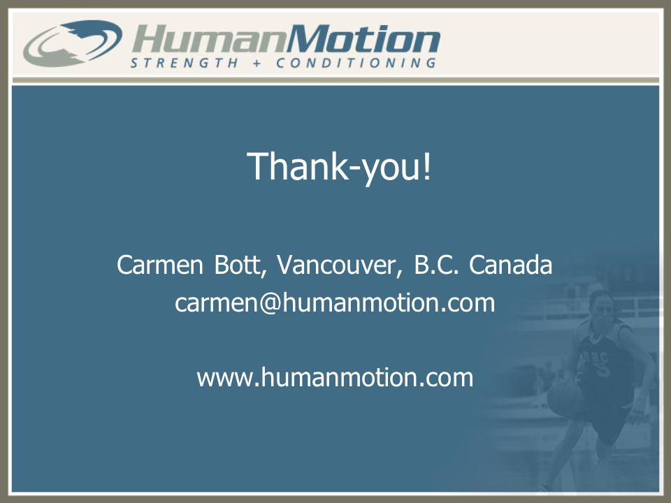 Carmen Bott, Vancouver, B.C. Canada