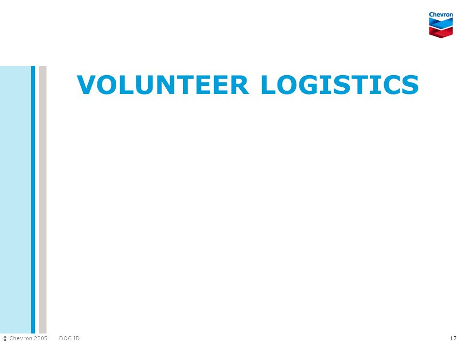 Volunteer Logistics