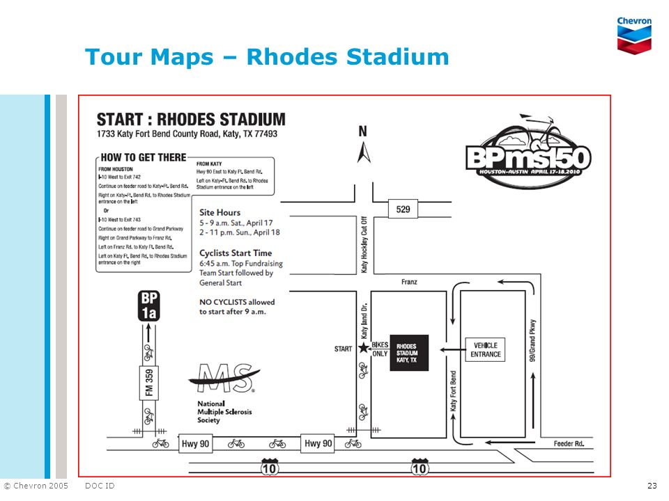 Tour Maps – Rhodes Stadium