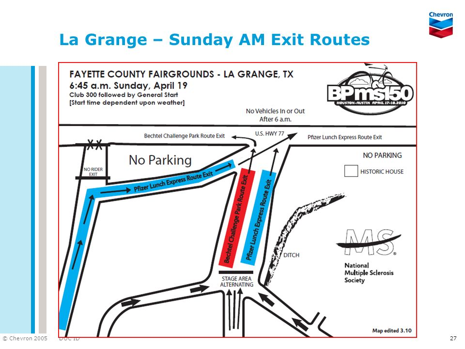 La Grange – Sunday AM Exit Routes