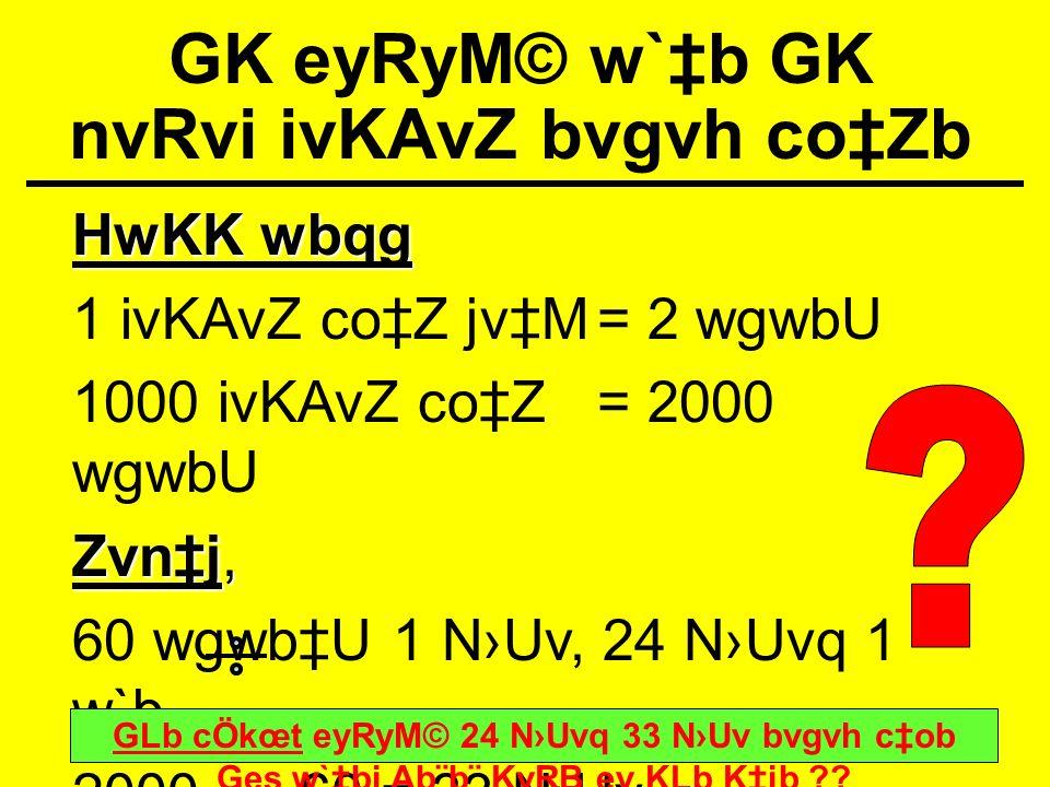 GK eyRyM© w`‡b GK nvRvi ivKAvZ bvgvh co‡Zb