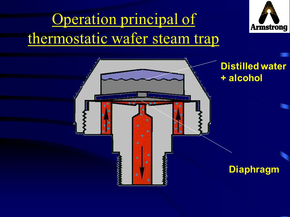 Operation principal of thermostatic wafer steam trap
