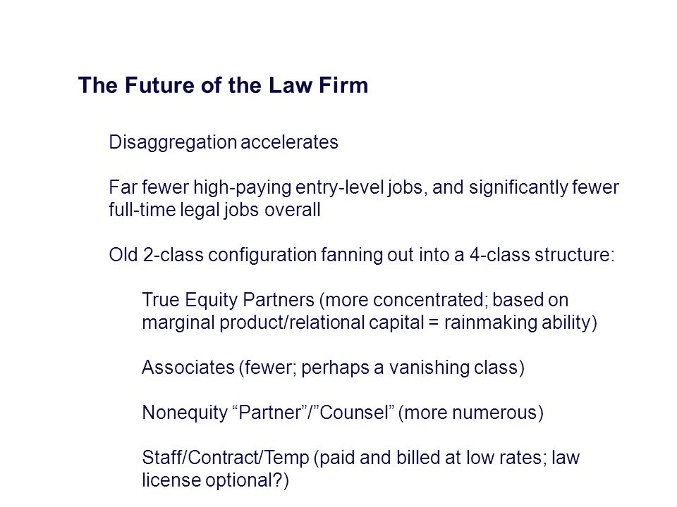 The Future of the Law Firm