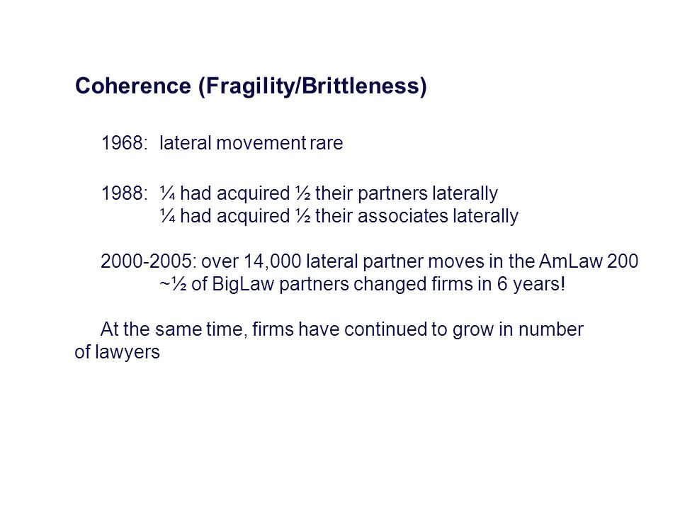 Coherence (Fragility/Brittleness)