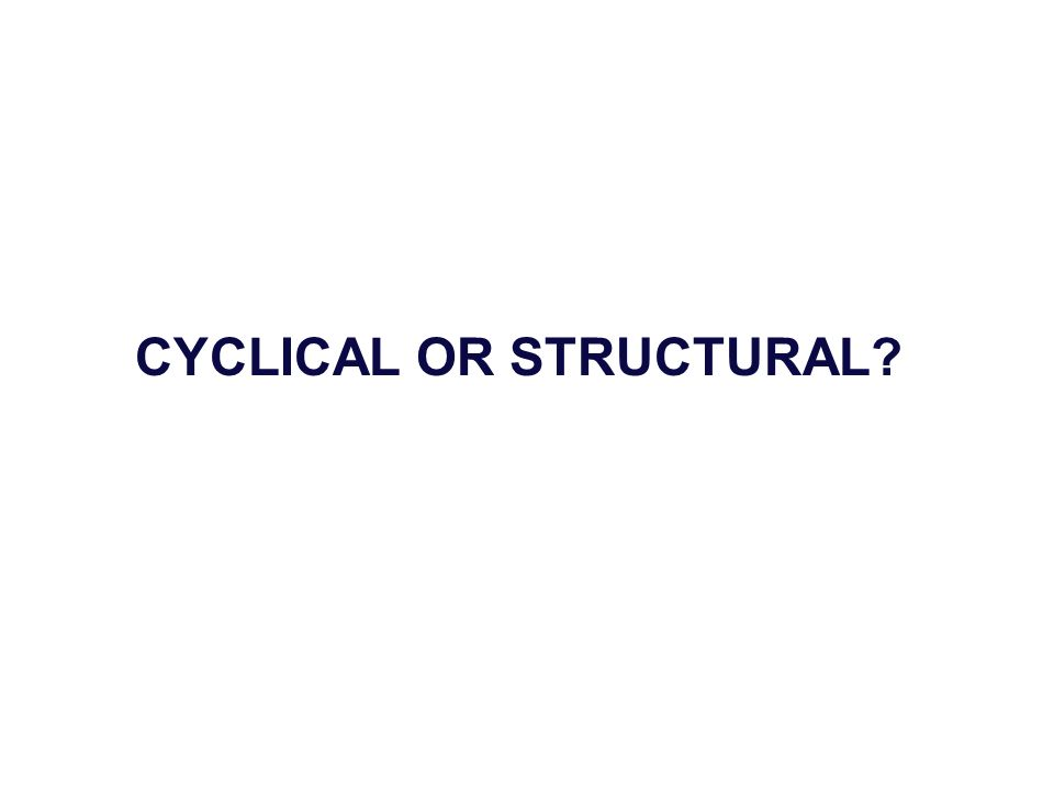 CYCLICAL OR STRUCTURAL