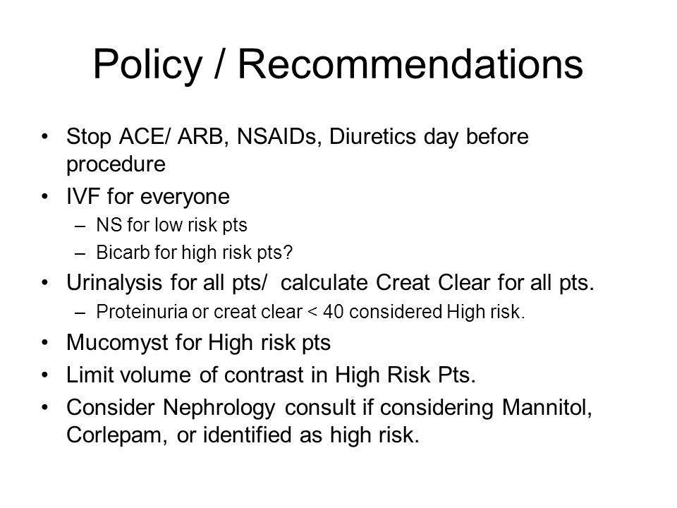 Policy / Recommendations